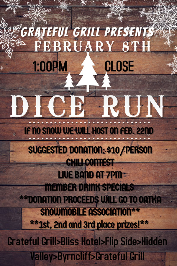 Oatka Valley Snowmobile Club | Dice Run